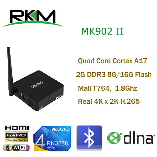 RKM MK902II Mini Computer HTPC Quad Core Android4.4 RK3288 2G DDR3