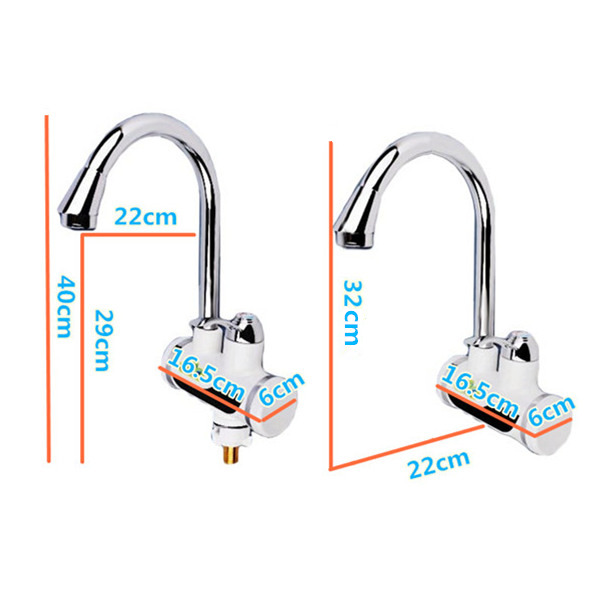 220V 3000W Digital Temperature Display Smart Electric Heating Faucet