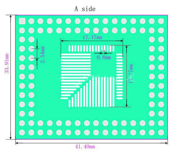 10Pcs 0.5mm/0.8mm QFP/TQFP/LQFP/FQFP 32/44/64/80/100 To DIP Adapter PCB Board Converter