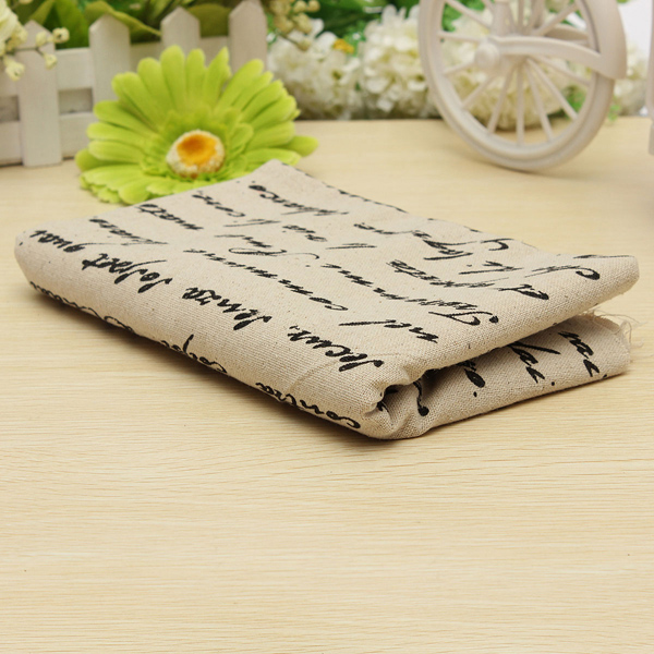 50X150CM Cotton French Newspaper Cloth Fabric Home Sewing Quilt Cover