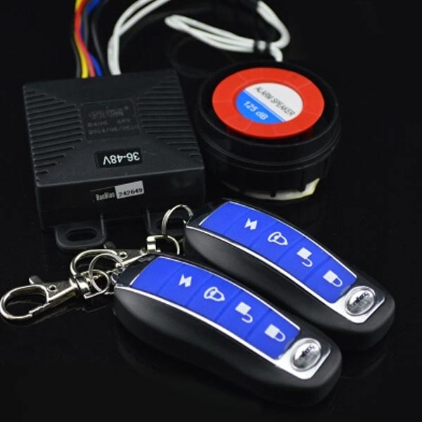 Motorcycle Anti-theft Alarm 48v-60v With 2 Remotes