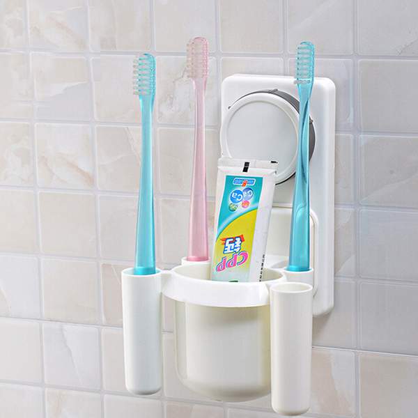 Multifunctional Strong Chuck Toothbrush Rack Bath Toothpaste Holder