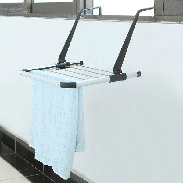Outdoor Drying Rack Sliding Retractable Folding Balcony Hanger Rod