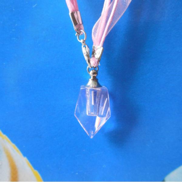 2x12mm Tritium Tube Self-luminou Crystalline Flask Ensiform Necklace
