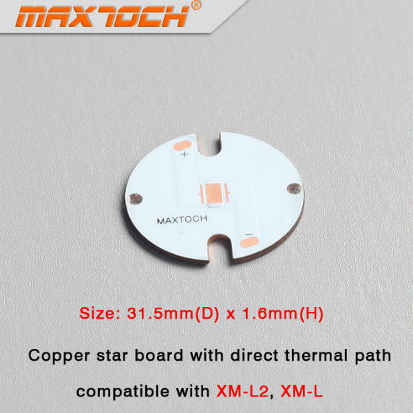MAXTOCH CREE XM-L2 XM-L Direct Thermal Path Copper Board 31.5x1.6mm