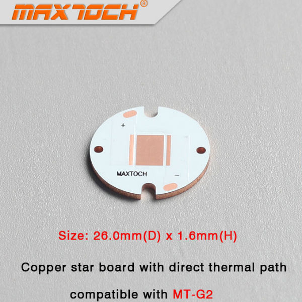 MAXTOCH CREE MT-G2 Copper Star Board With Direct Thermal 26x1.6mm