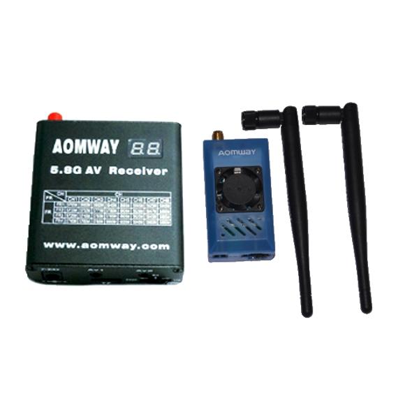 Aomway 5.8G 1W 1000mW TX RX Set with DVR