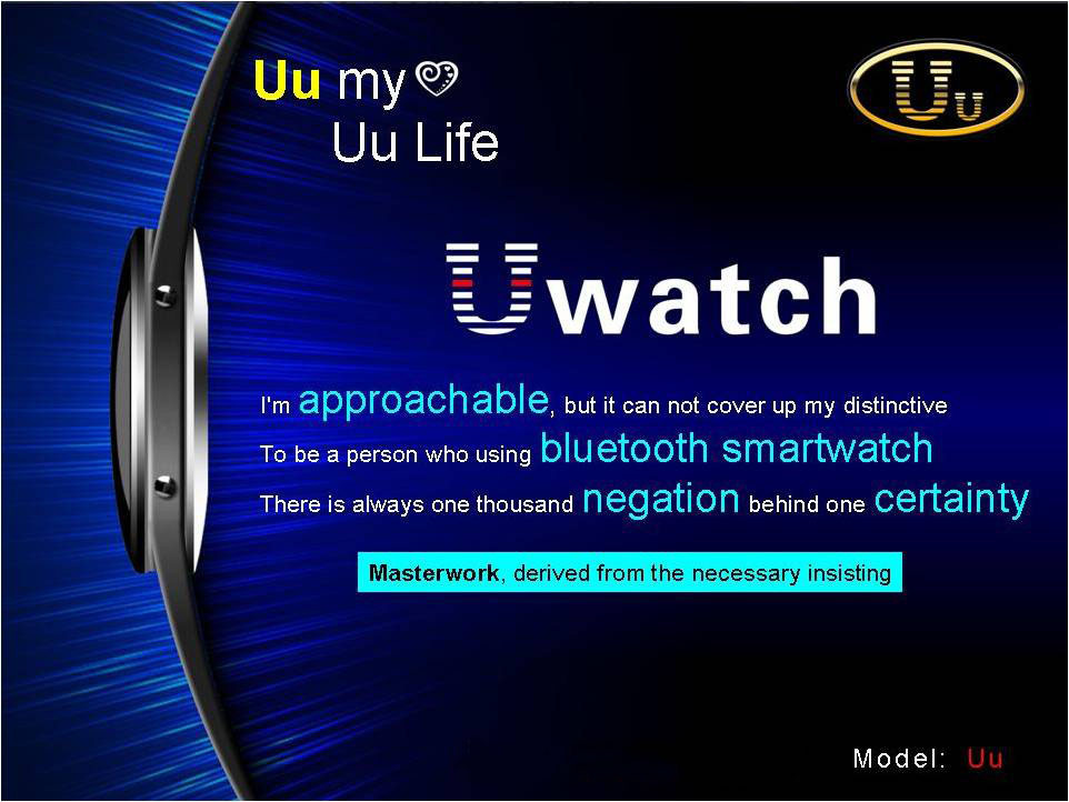 Uu Bluetooth Watch Anti Lost Pedometer Remote Camera For Phone
