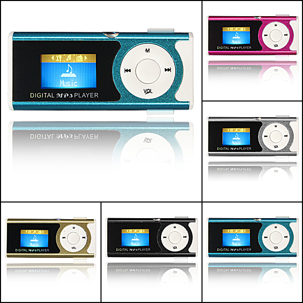Mini USB Clip MP3 Player LCD Screen Support 16GB Micro SD TF Card With LED Light