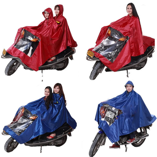 Motorcycle Electric Raincoat Poncho Plus Size Thickening Rain Gear