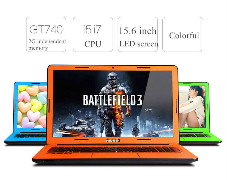 Colorful MBENBEN Intel Core i7-3612QM GT840 4G RAM+1T HDD 15.6 Inch