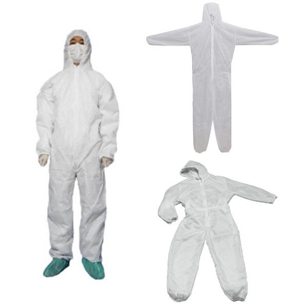 Disposable White Coveralls Dust Spray Suit Non-woven Dust-proof Clothing