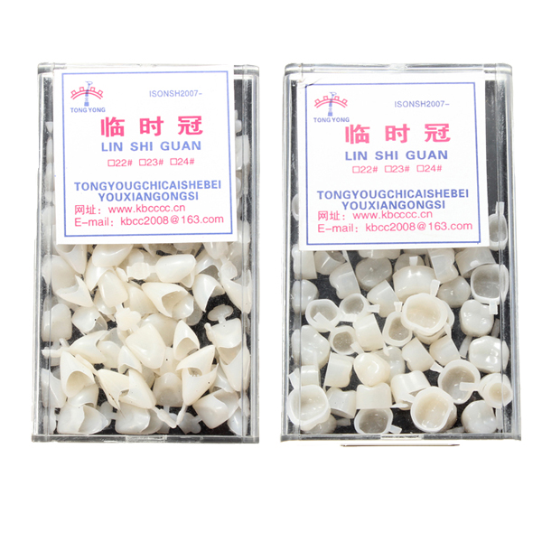 50pcs Plastic Dental Temporary Crown Anterior Molar Synthetic Resin