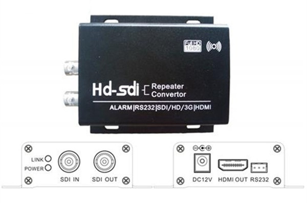 SHC21 Aluminum Alloy HD-SDI SDI to HDMI Converter Repeater