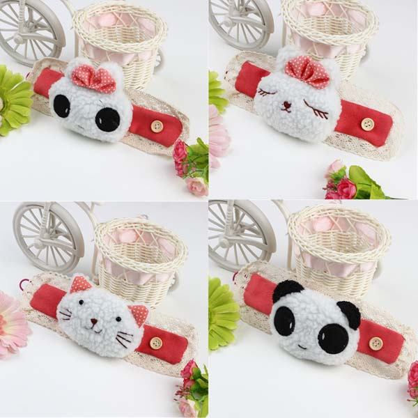Plush Carton Animal Panda Cat Rabbit Curtain Buckle Clip Tieback Belt