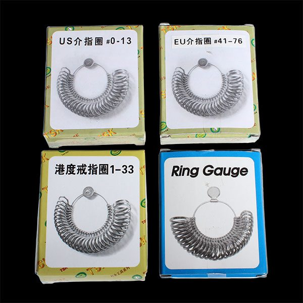 Metal Finger Ring Sizer Jewelry Measure Tool Gauge Tool