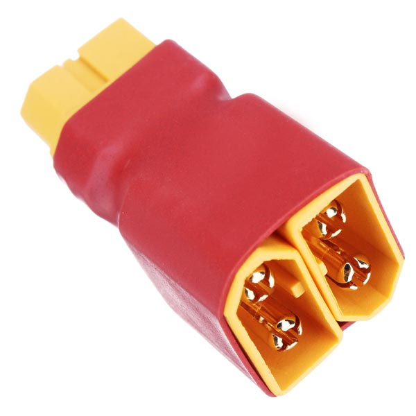 XT60 2 string 1 Mains Supply Plug for Two Batteries in Series