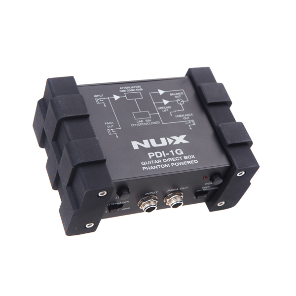 NUX PDI-1G Guitar Direct Injection Phantom Power Box Audio Mixer