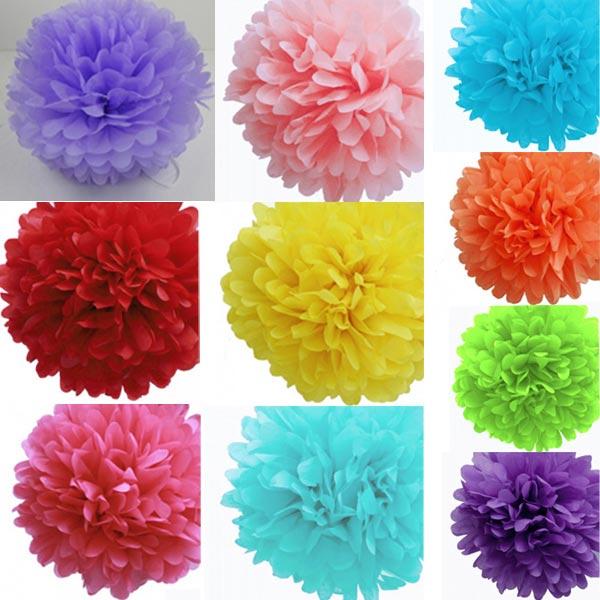Tissue Paper Flower Balls Pom Poms Wedding Party Shower Decoration