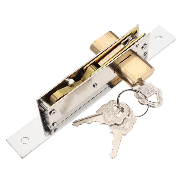Aluminum Sliding Door Lock Hook Lock 5586B With Iron Keys