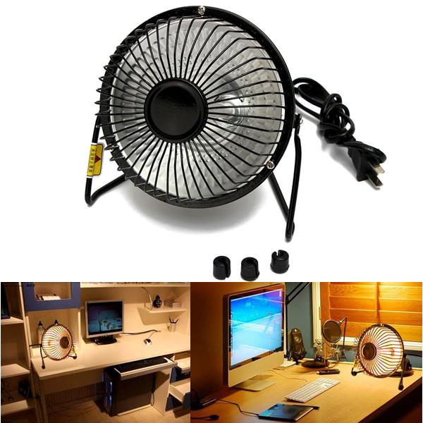 Mini 220V 500W Electric Desktop Heater Winter Warm Heater Fan