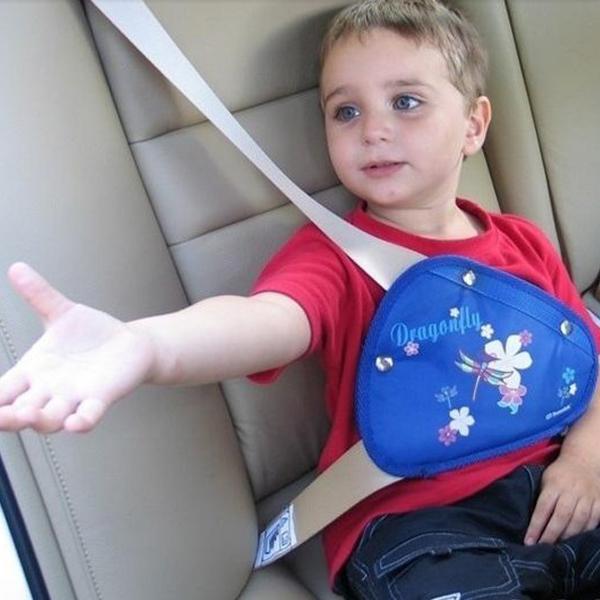 Child Seat Belt Adjuster Belt Anchor Belts With a Triangular Children