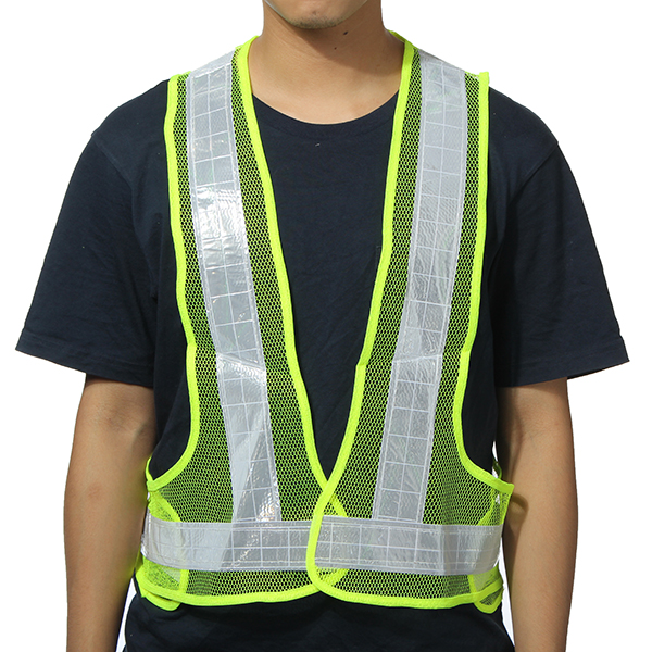 2pcs Yellow&White Reflective Vest High Visibility Warning Safety Gear