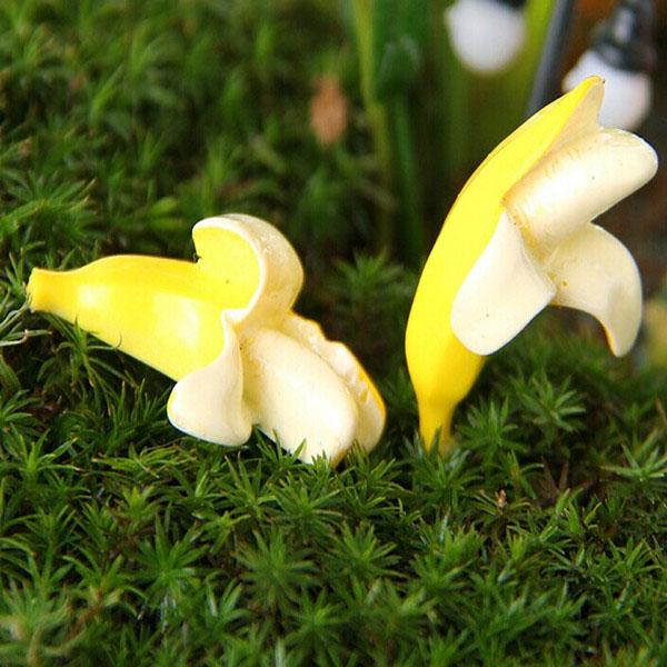 DIY Miniature Miniature Banana Ornaments Potted Plant Garden Decor