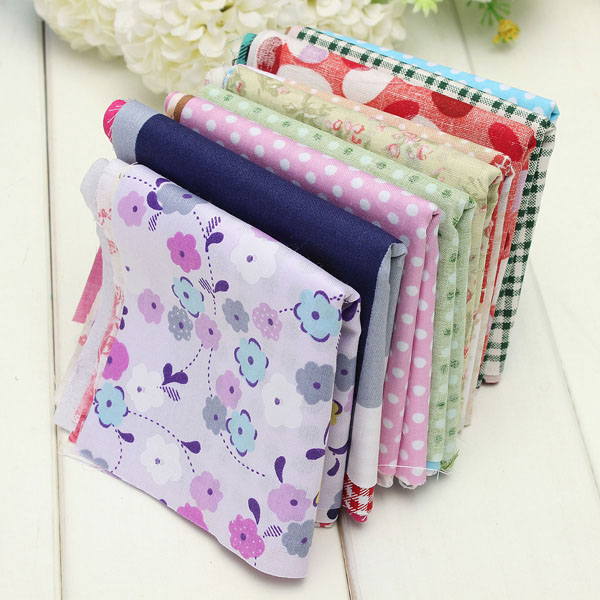 50pcs Various Cotton Craft Fabric Bag Handkerchief Sewing Cloth