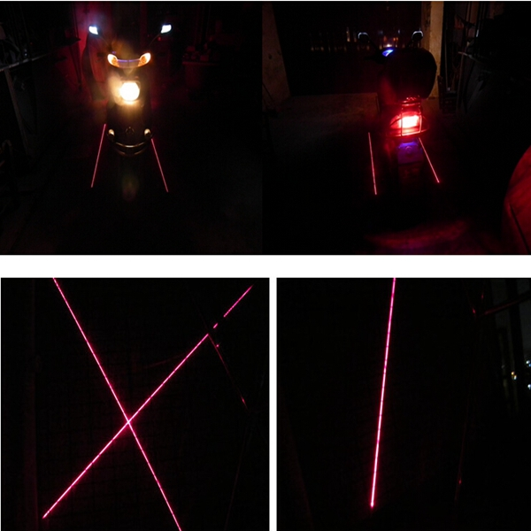 2pcs 12V 0.24W Motorcycle Scooter Laser Signal Tail Lights