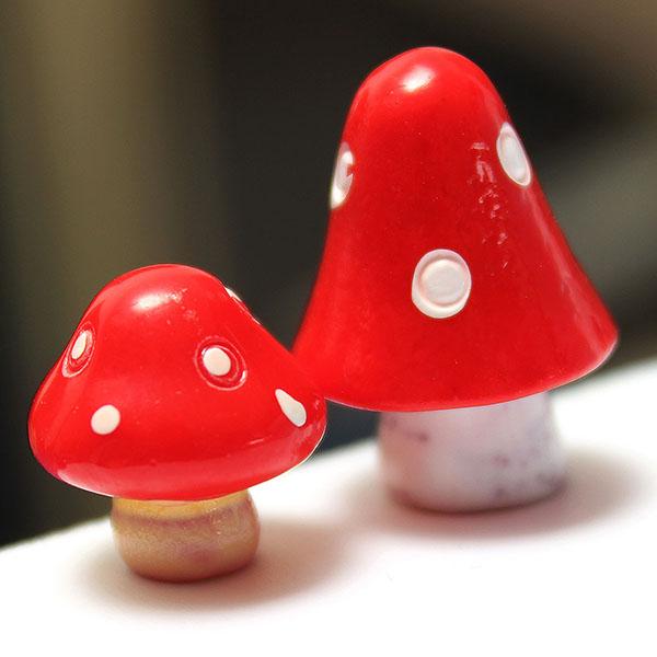 DIY Miniature Mushroom Ornaments Potted Plant Garden Decor