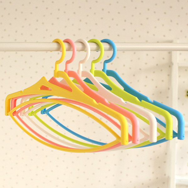 5pcs Multifunction Stereo Rotating Hanger Plastic Laundry Rack