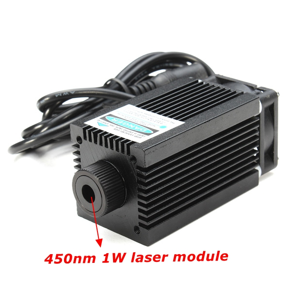450nm 1W 1000mW Blue Laser Module With Holder For DIY Laser Cutter