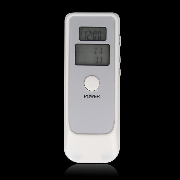 Dual Digital Alcohol Breath Tester Breathalyzer with LCD Clock
