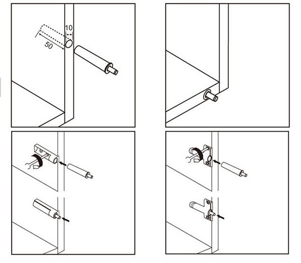 Door Cabinet Damper Anticollision Bumper Buffer Muffer Shock Absorber