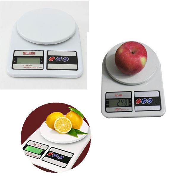 LCD Household Kitchen Scale Precision Digital Electronic Scale 7KG/1G
