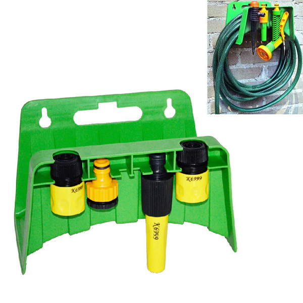 Wall-mounted Pipe Rack Garden Hose Nozzle Connectors Storage Rack