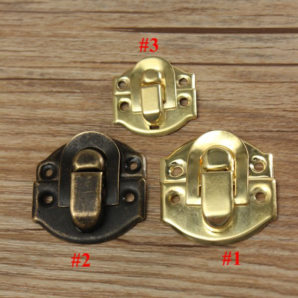 1pcs Antique Decorative Jewelry Gift Wooden Box Hasp Latch Lock With Screw