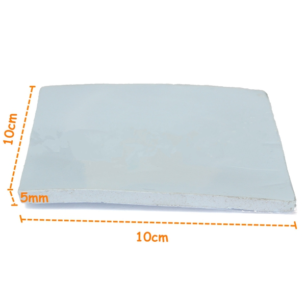 100x100x5mm Thermal Conductive Silicone Pad Film For GPU CPU Heatsink