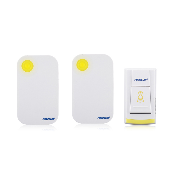 36 Music Wireless Yellow Door Bell 1 Remote Button Control 2 Receivers