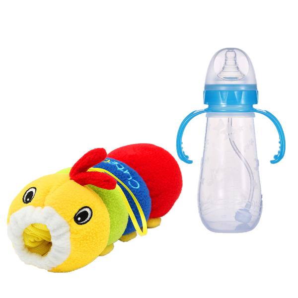 Baby Feeder Cover Plush Doll Caterpillar Cartoon Milk Bottle Case