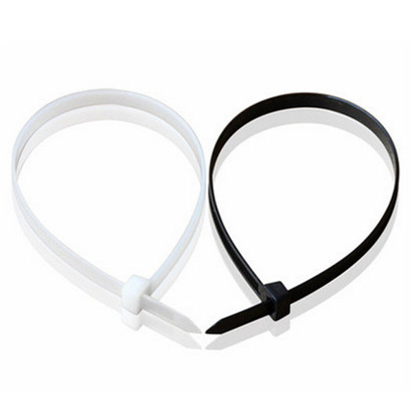 100pcs 100-450MM Nylon Cable Wire Zip Ties Cord Wraps Black & White