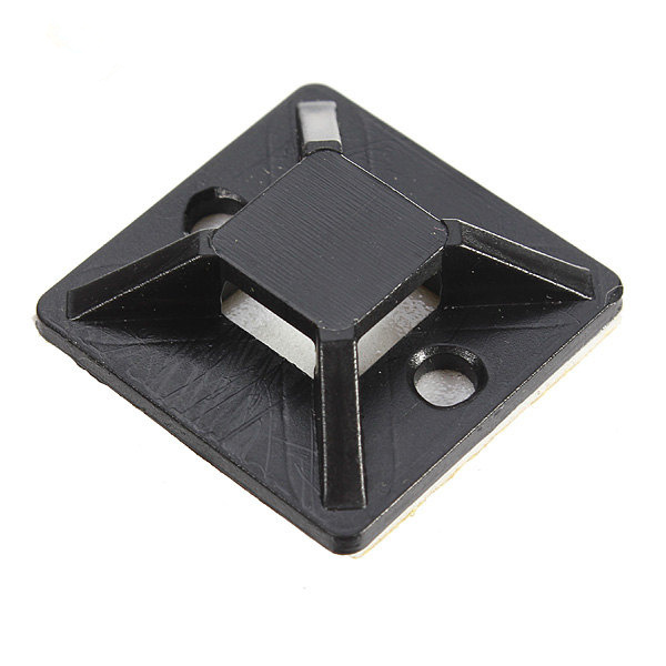 10pcs 30*30MM Black Self-adhesive Cable Tie Mounts Positioning Pieces