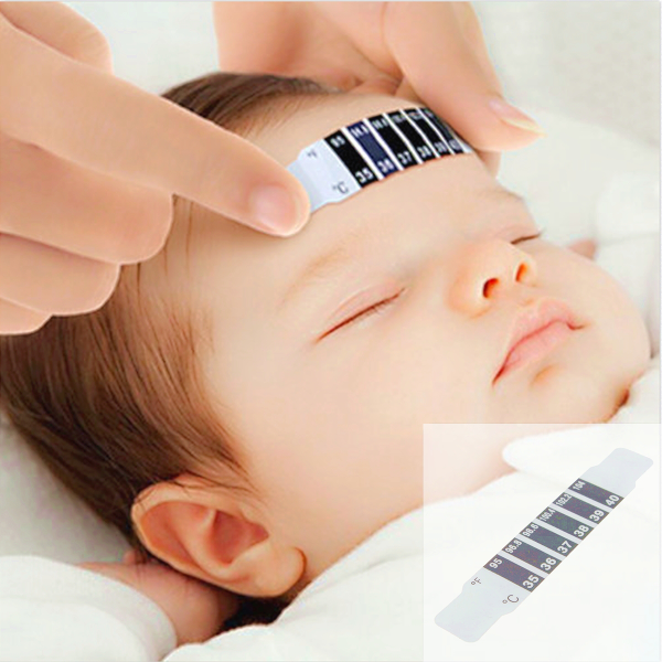 5Pcs Baby Kids Forehead Strip Fever Temperature Test