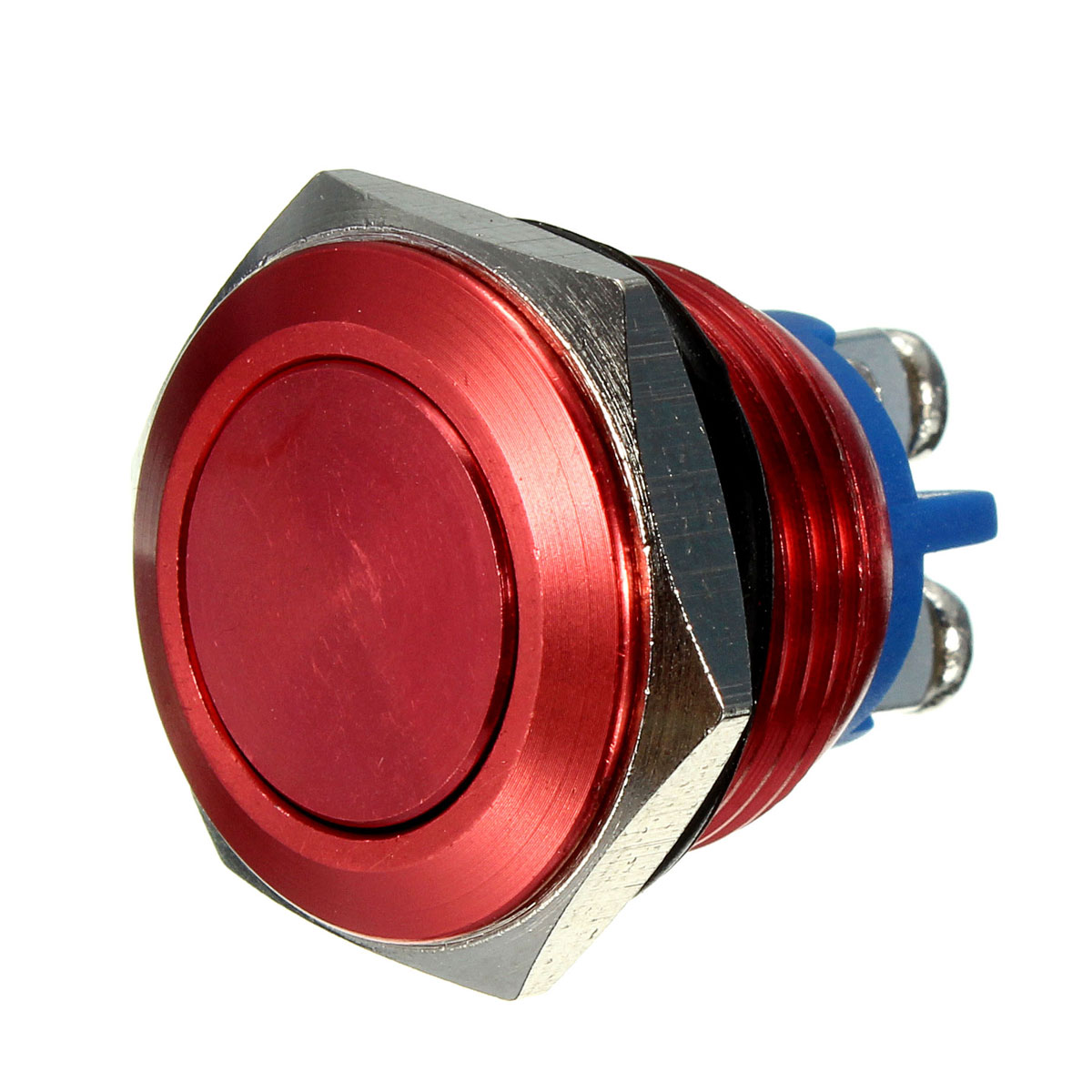 3A/250V16mm Horn Button Switch Red Metal Stainless Steel Push Button Switch