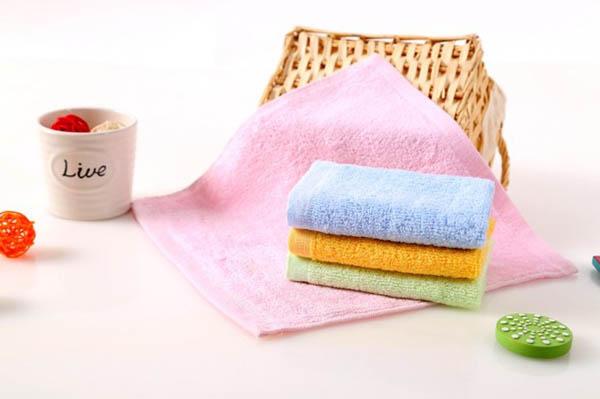 25*25cm Bamboo Fiber Antibacterial Handkerchief Soft Baby Face Towel