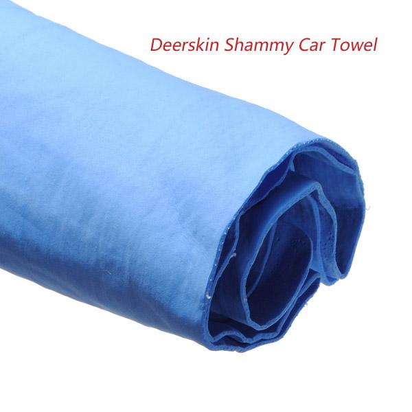 Deerskin Shammy Car Home Office Cleaning Dry Hair Towel