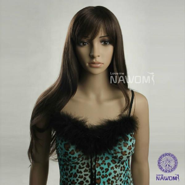 NAWOMI Dark Brown Women Long Hair Wig W3281