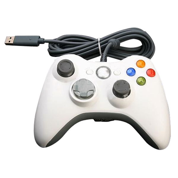 USB Wired Game Pad Gamepad Controller for Xbox 360 White