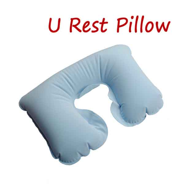 Inflatable Travel Pillow Neck Compact Air Cushion